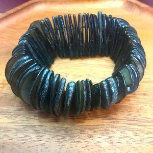 Allure brand black tone shell bracelet